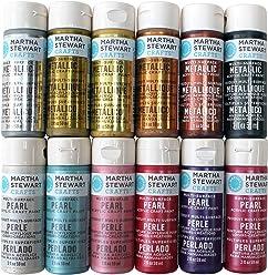 Martha Stewart Crafts Multi-Surface Acrylic Craft Paint Set (2-Ounce),