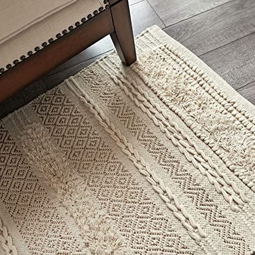 MOTINI Tufted Cotton Area Rug 3' x 5'