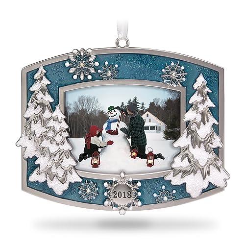 Hallmark Keepsake Christmas Ornament 2018 Year Dated: Snowflake Frame: Amazon.com