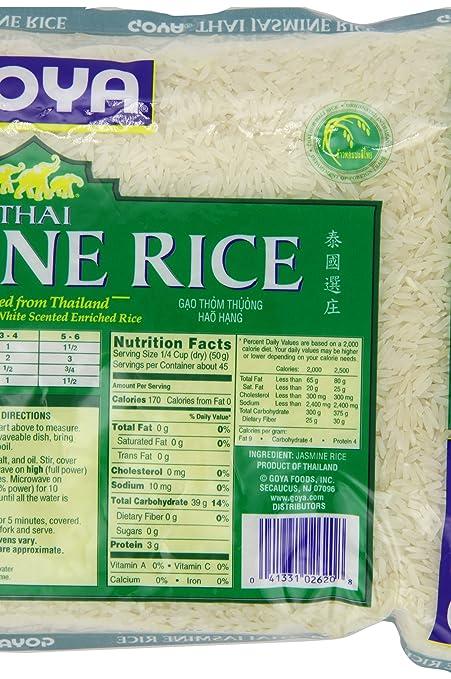 Amazon Goya Jasmine Rice 5 Pound Dried White Rice Grocery