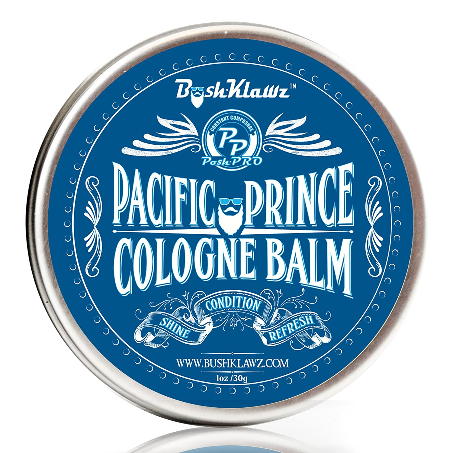 Pacific Prince Solid Cologne Balm Fragrance - Fresh Balanced Midnight Ocean Breeze Aquatic Scent for Men - Best Aquatic Scent Solid Alcohol Free Cologne for travel Best Gift for Men