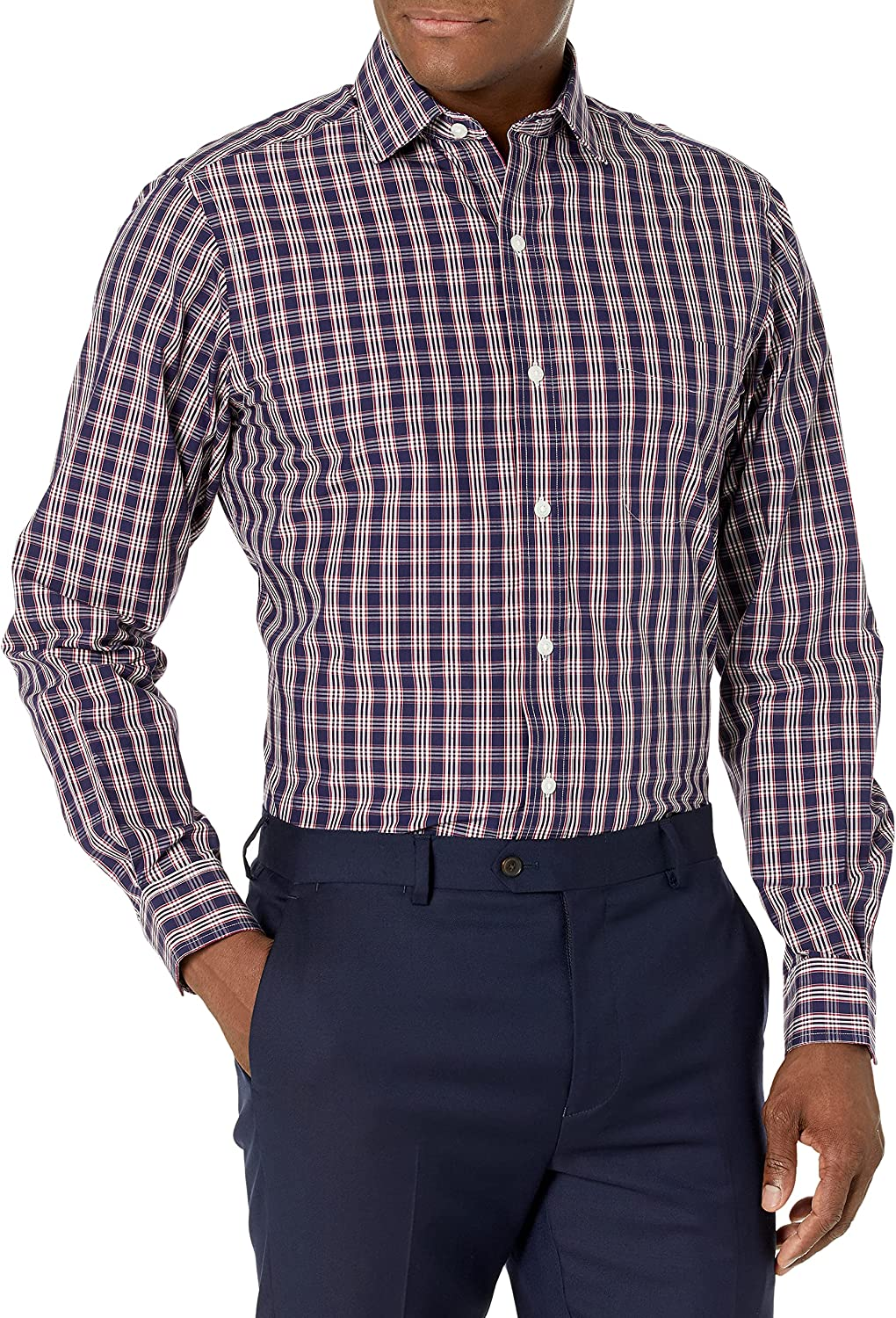 New Mens Check Long Sleeve Shirts Formal Casual Wear!!BUY ONE GET ONE FREE!!