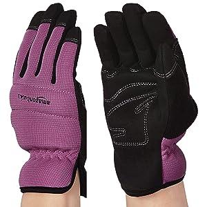 AmazonBasics Women's Work or Garden Gloves - Extra Small, Purple
