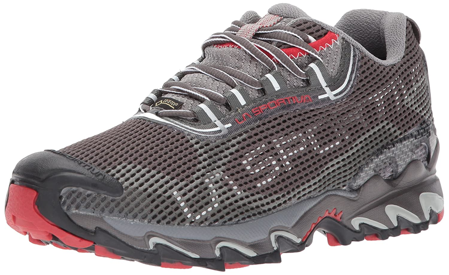 La Sportiva Women's Wildcat 2.0 GTX Trail Running Shoe B0007KOZFO 43 M EU|Grey/Red