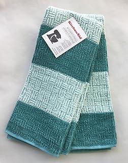 New KitchenAid Set of Two Cornflower Blue Plush Kitchen Towels