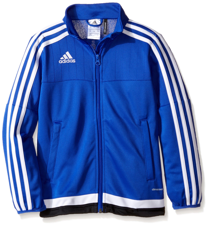 adidas Kids' Soccer Tiro 15 Training Jacket, Bold Blue/White/Black, Small by adidas
