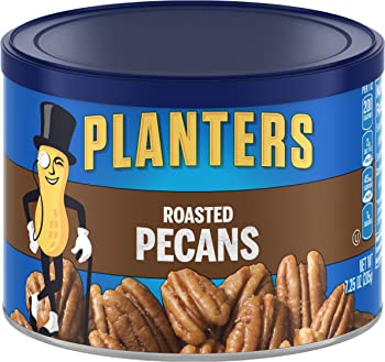 Planters Roasted & Salted Pecans (7.25 Ounce Canister)