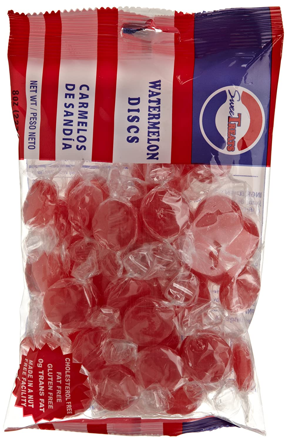 Amazon.com : Sweetreats Discs, Watermelon, 8-Ounce (Pack of 20) : Hard Candy : Grocery & Gourmet Food