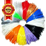 3D Pen / Printer Refills - 1.75mm ABS Filament Refill Pack - 240 Linear Feet in 20 Foot Lengths Per Color - 80 STENCIL E-BOOK & BONUS GLOW IN THE DARK COLOR Included by 3D Artist Supply