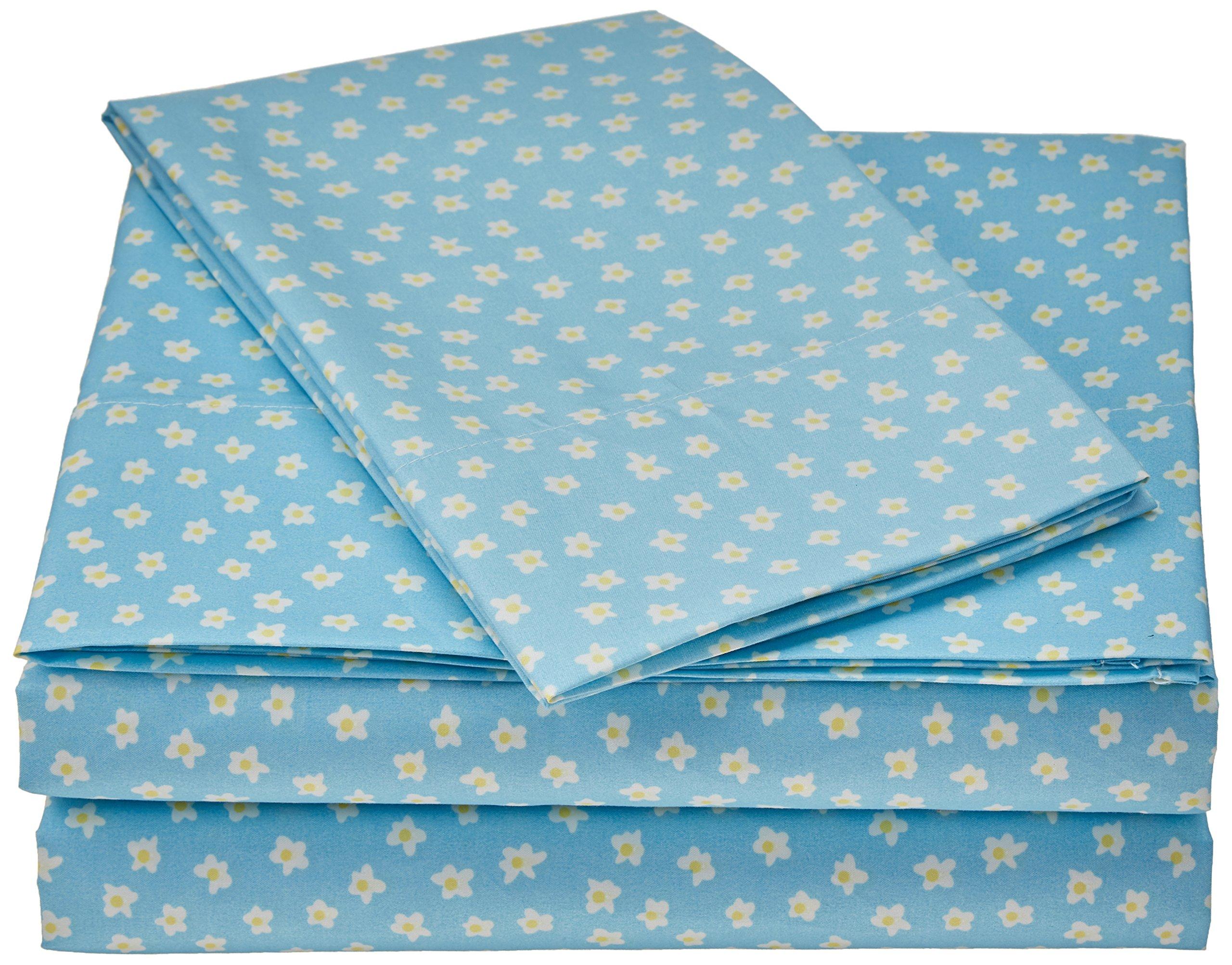 Laura Hart Kids SS2352TW-4700 Printed Sheet Set, Twin, Garden Fairies Daisies