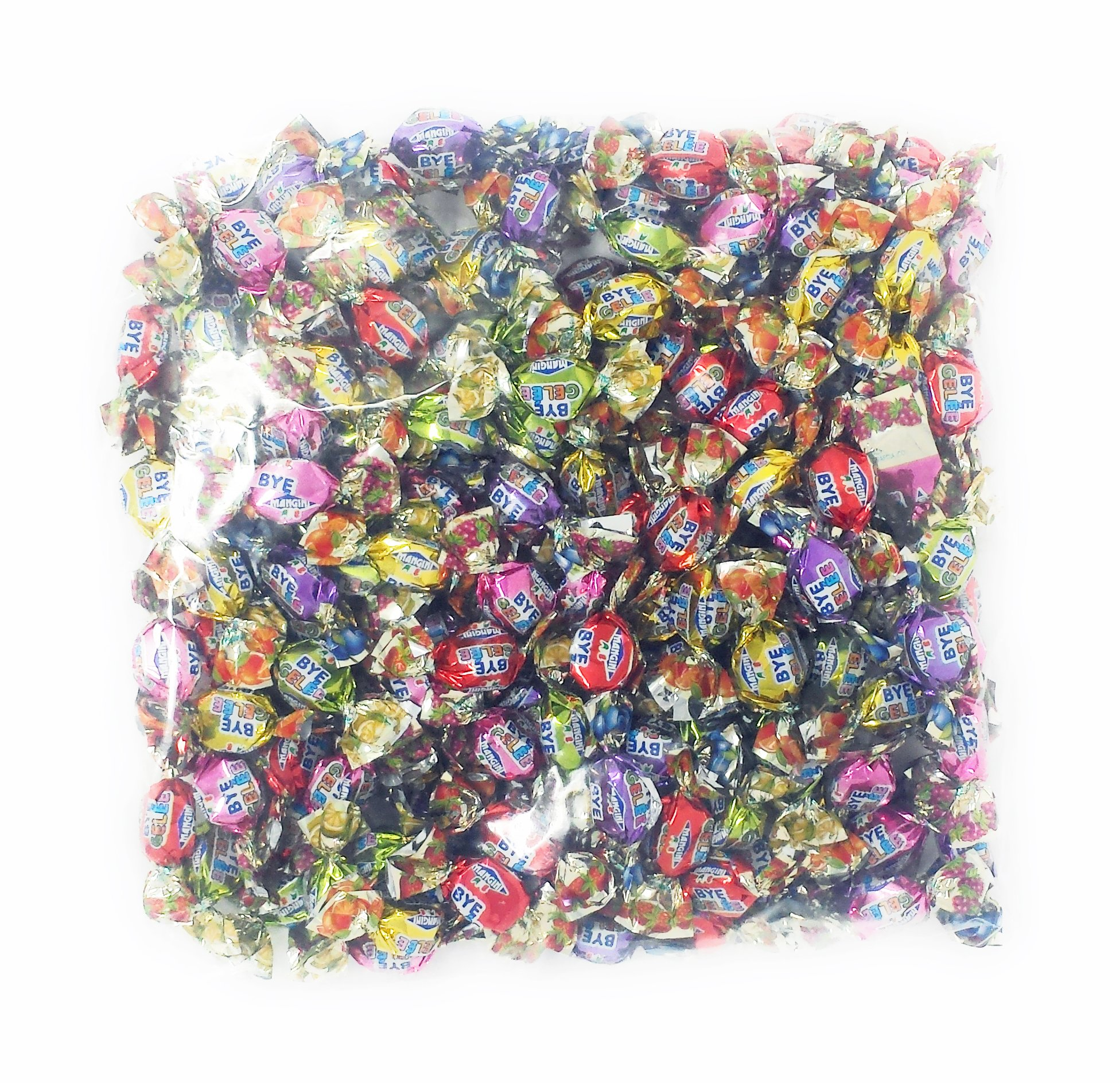 Mangini Candy Italian Fruit Gels, Gelee Assorted Fruit Candy (1 bag) 2.2 Pound Bag, Fruit Jellies