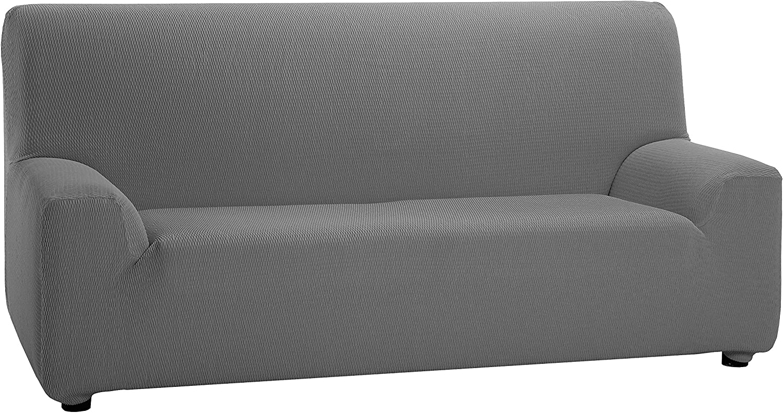 Martina Home Tunez - Funda elástica para sofá, Gris, 4 Plazas (240-270 cm)