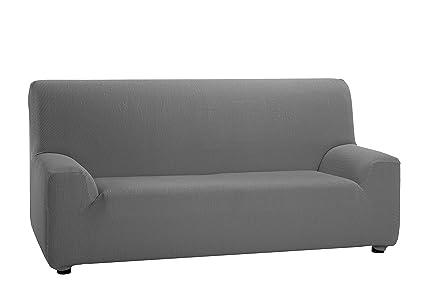 Martina Home - Funda Elástica para Sofá de 2 plazas, modelo TUNEZ, Color GRIS, Medida desde 120 a 190 cm, tela