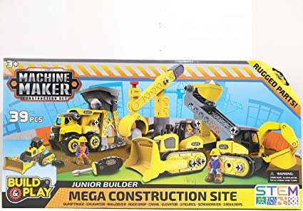 Nikko Machine Maker Mega City Service Build /& Play 39 Piece Construction Set