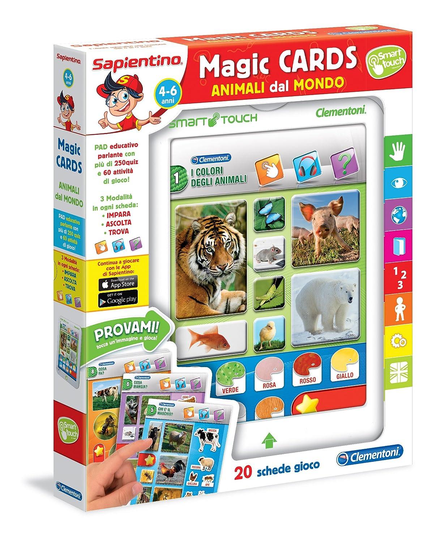 Sapientino Clementoni 13273 Magic Cards Animali dal Mondo, 4-6 Anni Clementoni Spa Italy