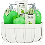 Pure! Rachelle Parker Luxury Spa Basket- Lush Bath & Body Basket to Hydrate Naturally! Best Gift Baskets for Women and Teen Gifts
