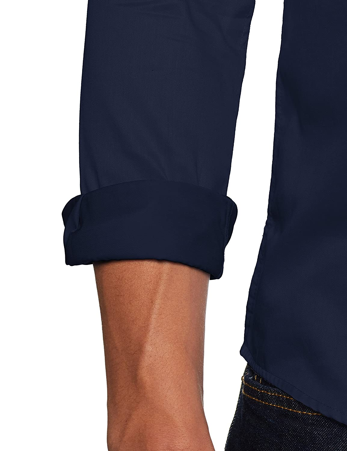 Dress Blues Dress Blues Only /& Sons Onsalves LS 2-ply Easy Iron Shirt Noos Camicia Formale Blu Medium Uomo