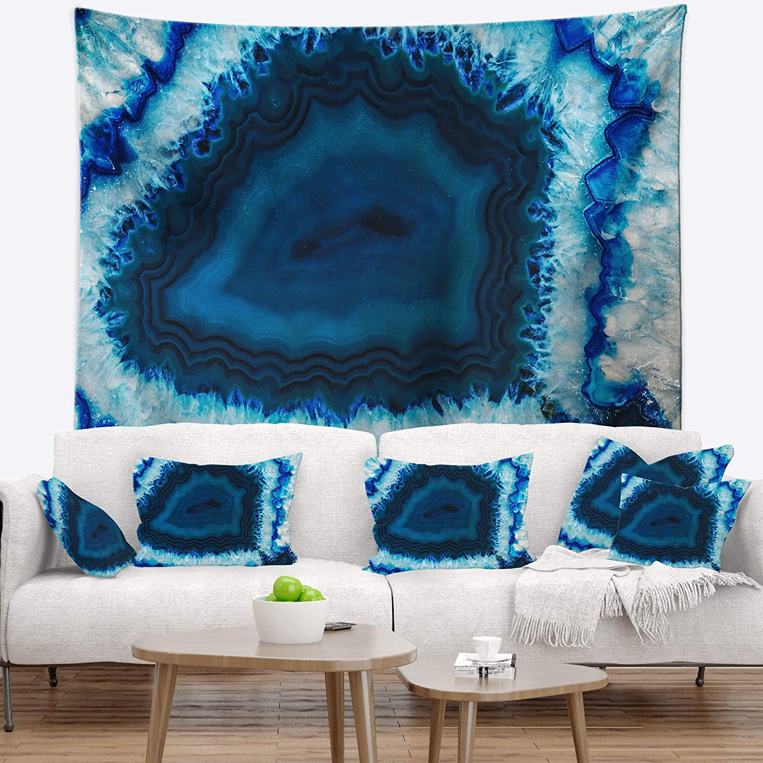 x 50 in 60 in Created On Lightweight Polyester Fabric Designart TAP14376-60-50  Brazilian Thunder Egg Abstract Blanket D/écor Art for Home and Office Wall Tapestry Large