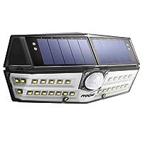 [Version Innovante] Mpow 30 LED Lampe Solaire Etanche IPX6+ Détecteur de Mouvement Panneau Solaire Amélioré 1800 mAh Puissante 120° Grand Angle LED Eclairage Solaire Extérieur pour Jardin, Garage, Cour, Maison, Escalier, Patio, Allée