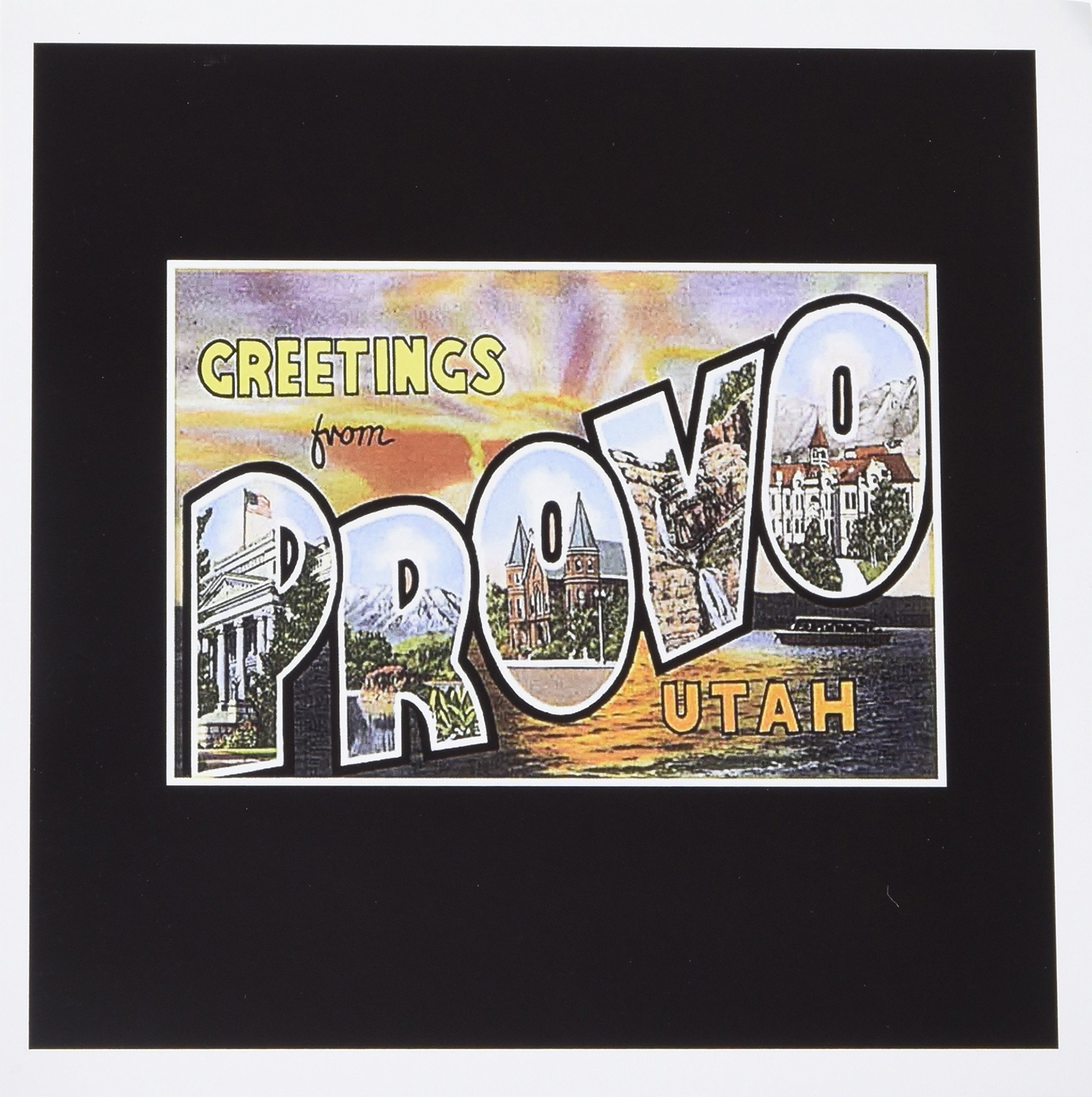 3dRose Greetings from Provo Utah Postcard Reproduction - Greeting Cards, 6 x 6, Set of 12 (gc_170632_2)
