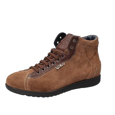 FLEX & FLY by (39 KEYS Sneakers Herren Braun Wildleder Leder (39 by EU ... 3a91aa