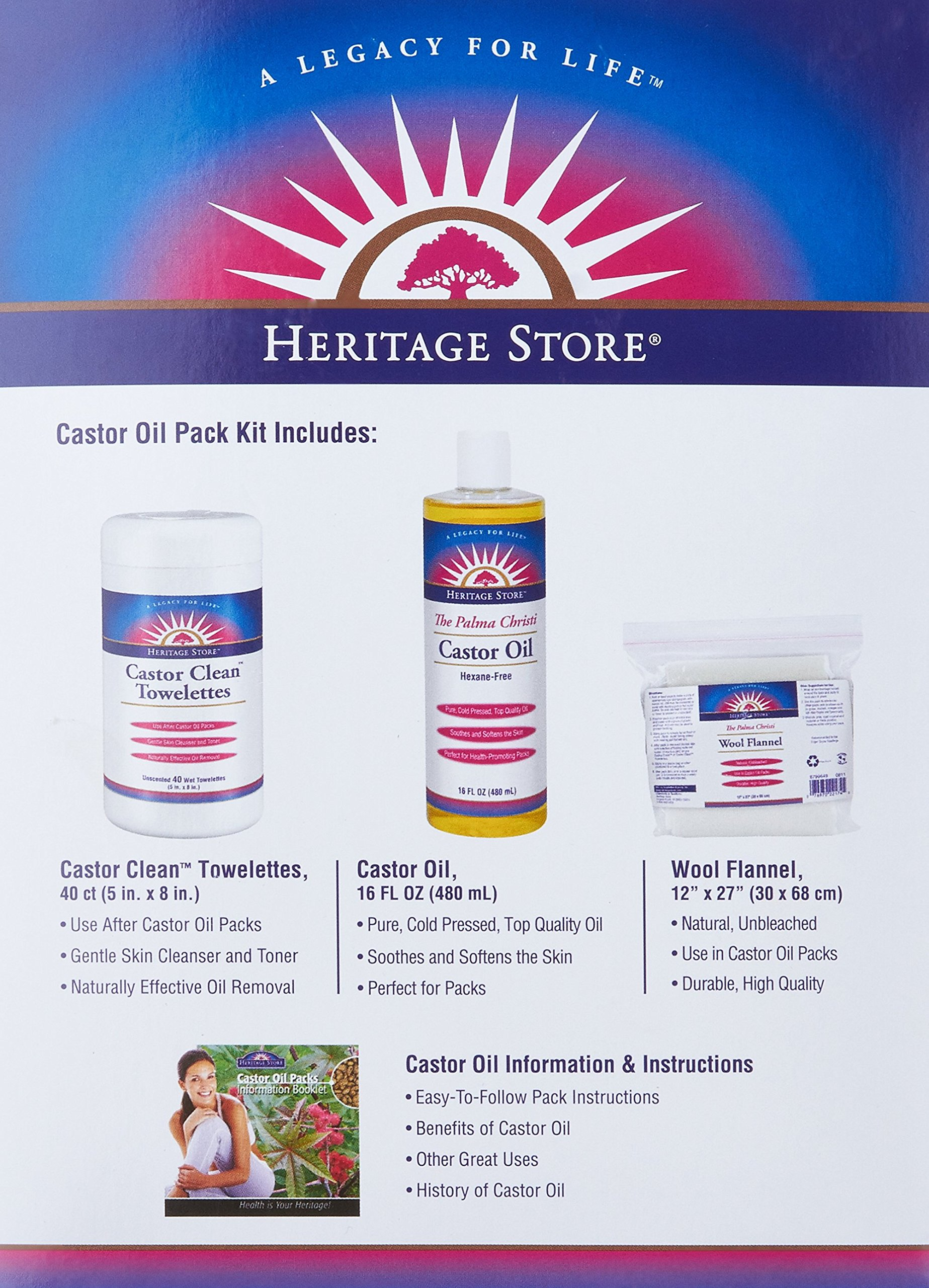 Heritage Store Castor Oil Pack Kit by Heritage Store (Image #5)