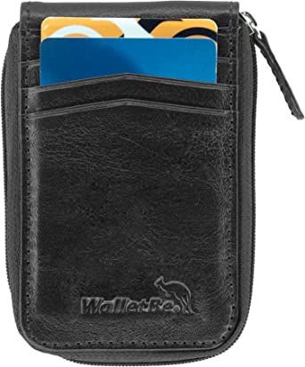 WalletBe Men/'s Minimal Ultra Thin Front Pocket ID Wallet
