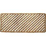 "Entryways Rectangular Stripes Wire Brush Bootscraper Doormat 18"" X 42"""
