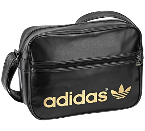 nett adidas Adicolour Airliner Tasche Bag Schwarz gold