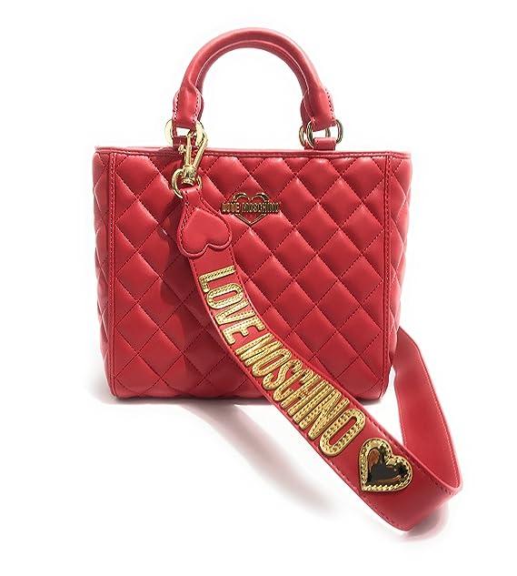 3f47482767 BORSA DONNA LOVE MOSCHINO BAULETTO NAPPA TRAPUNTATO ROSSO CON TRACOLLA  B18MO154: Amazon.it: Abbigliamento