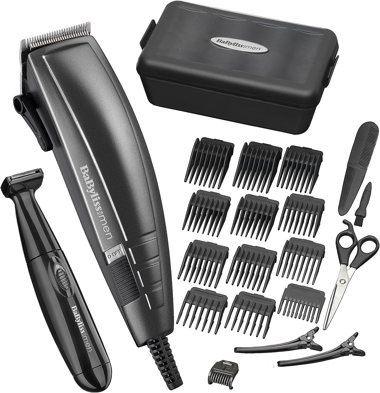 BaByliss Pro - Kit de corte de pelo para hombre, color negro ...