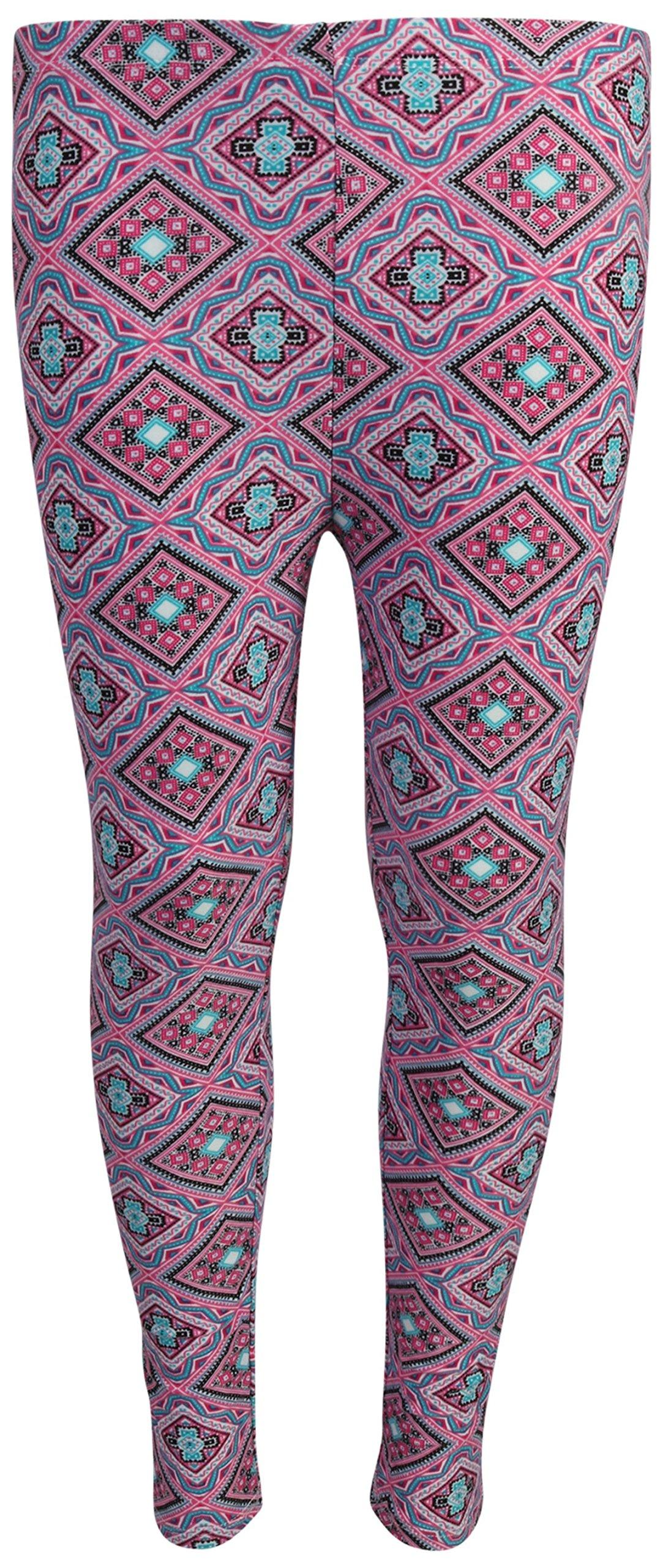dELiA*s 'dELiAs 4 Pack Girl's Basic Yummy Active Leggings, Navy Flower/Diamond, Size 7/8' by dELiA*s (Image #3)