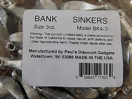 Bank 5 oz Fishing Sinker Lead Weight