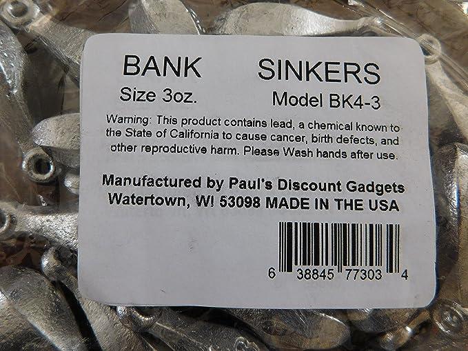 Bank Sinkers Bullet Weights Bulk Fishing 2-10 ounce