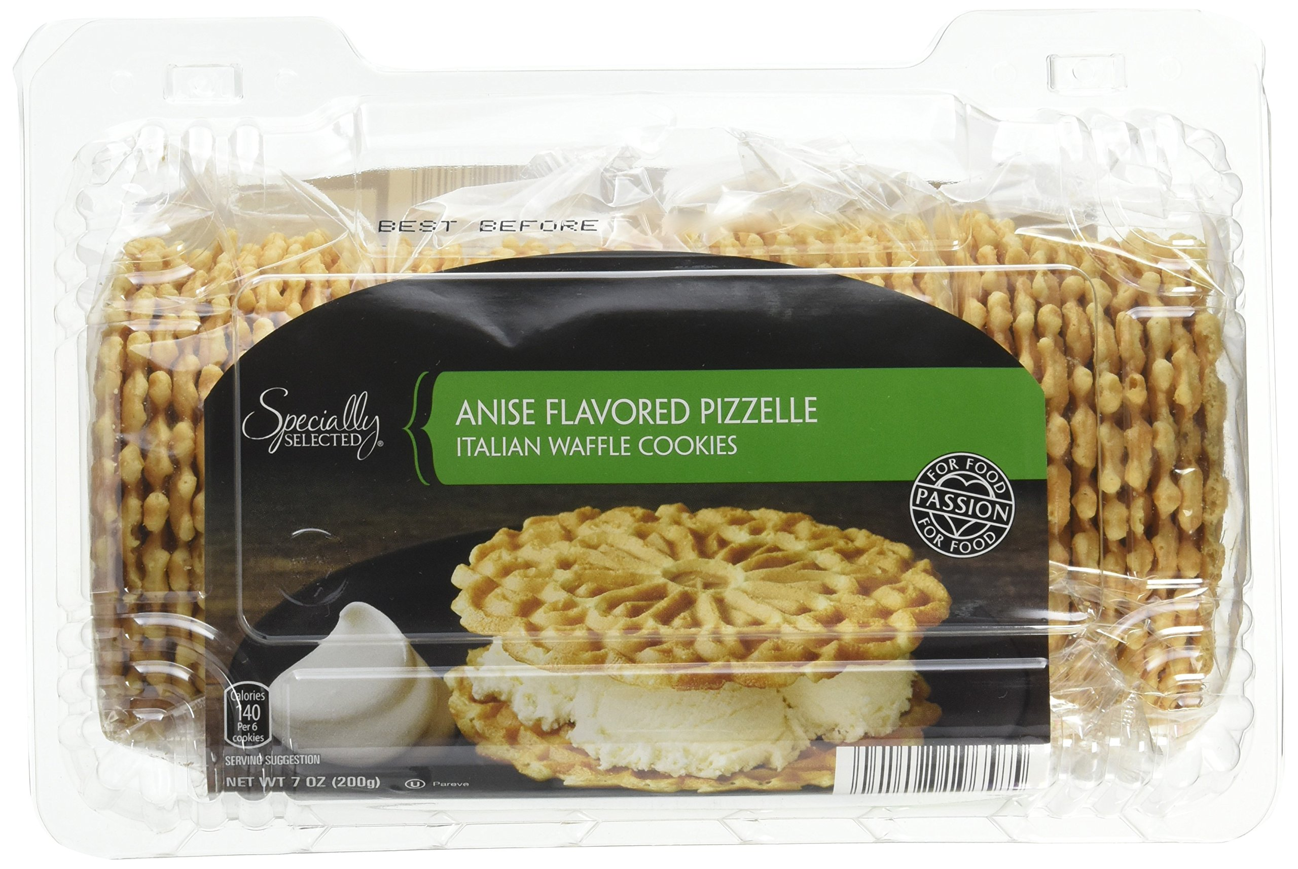 Pizzelle Italian Waffle Cookies Anise Flavor - 7 Oz Package Contains 4 Wrapped Packs of 9-11 Pizelles by Specially Selected