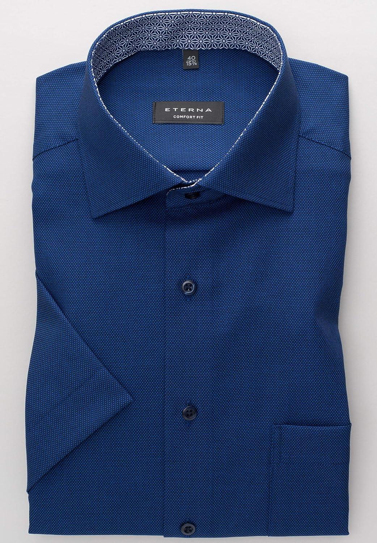 eterna Kurzarm Hemd Comfort FIT strukturiert