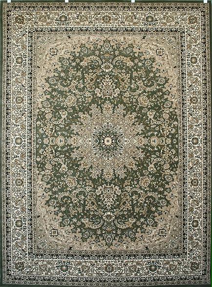 New City Sage Green Traditional Isfahan Wool Persian Area Rugs 5u00272 X ...