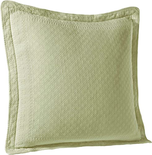 HISTORIC CHARLESTON Throw Pillow Covers – King Charles Decorative Pillow Cases Euro Sham for Sofa Couch Bedroom Living Room, 26 x 26 , Sage