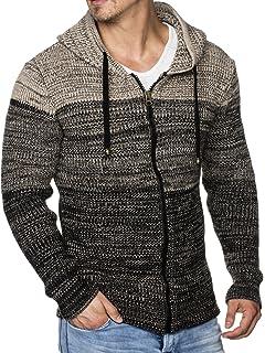 Tazzio Herren Strick-Jacke mit Kapuze 16491  Amazon.de  Bekleidung 5435ee7354