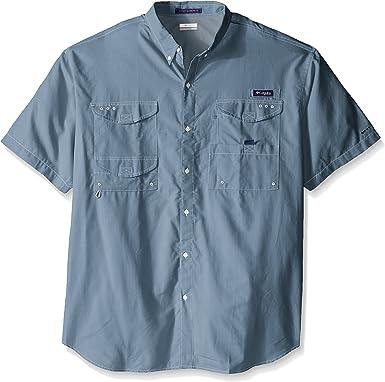 Columbia Camisa de manga corta cl¨¢sica de Bonehead de los hombres de la ropa deportiva, Oxford de acero, grande / alto: Amazon.es: Deportes y aire libre