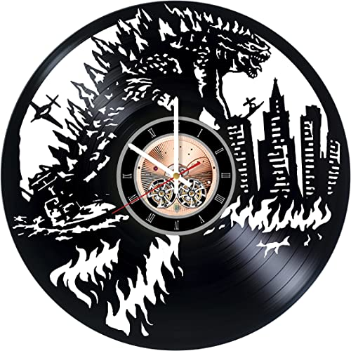 Godzilla Vinyl Record Wall Clock