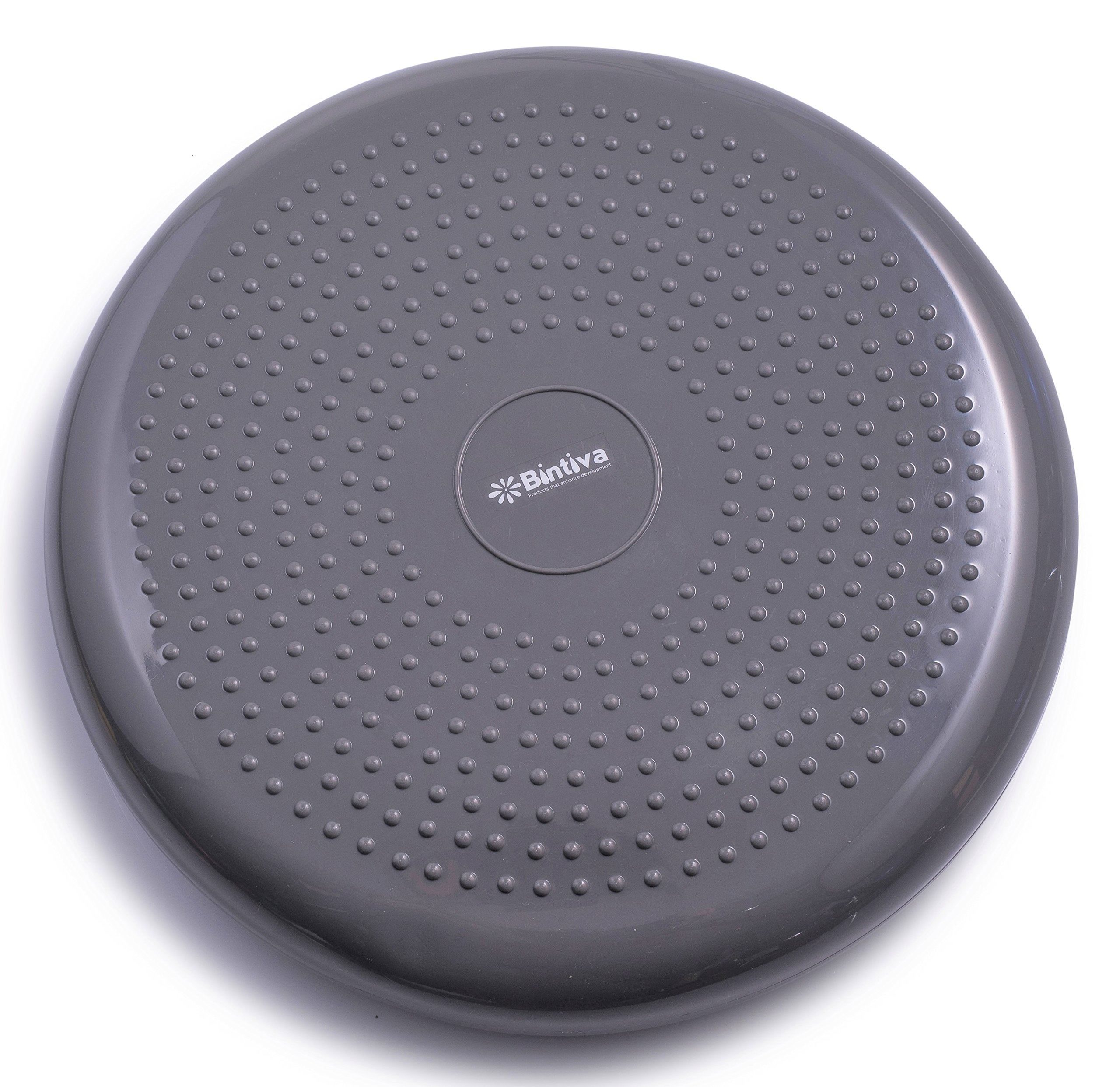 bintiva Inflated Stability Wobble Cushion, Including Free Pump/Exercise Fitness Core Balance Disc, Gray, 13 inches(33 cm) by bintiva (Image #1)
