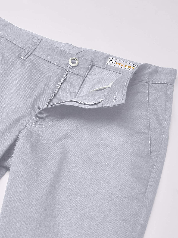 Volcom Men's Frickin Modern Stretch Chino Short Casual Grey