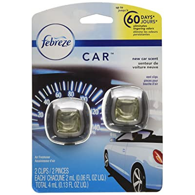 Febreze Air Freshener, Car Vent Clip Air Freshener, New Car Air Freshener, 2 Clips: Health & Personal Care