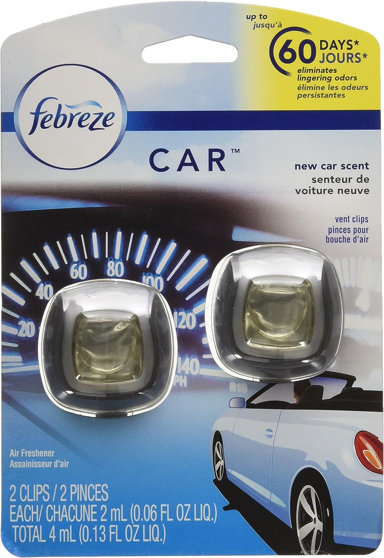 Febreze Air Freshener, Car Vent Clip Air Freshener, New Car Air Freshener, 2 Clips
