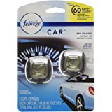 Febreze Car Air Freshener Vent Clips, New Car Scent, 2 Count - Packaging May Vary