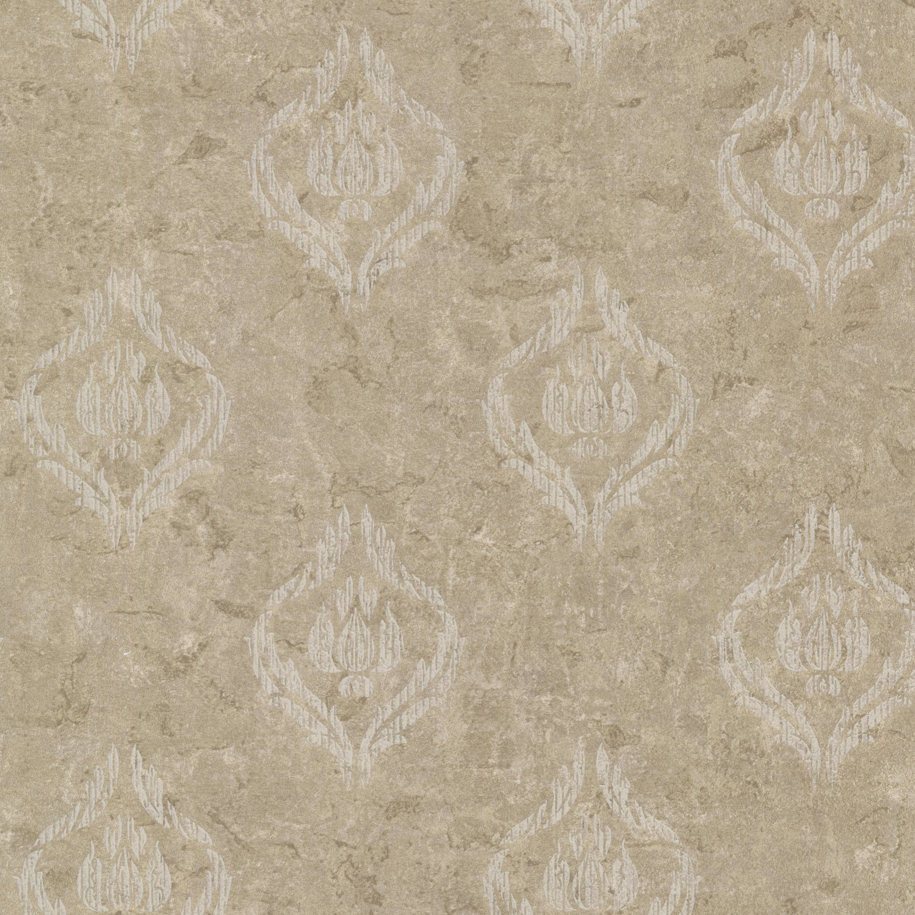 Kenneth James 672-20035 Benza Small Textured Damask Wallpaper, Bronze by Kenneth James