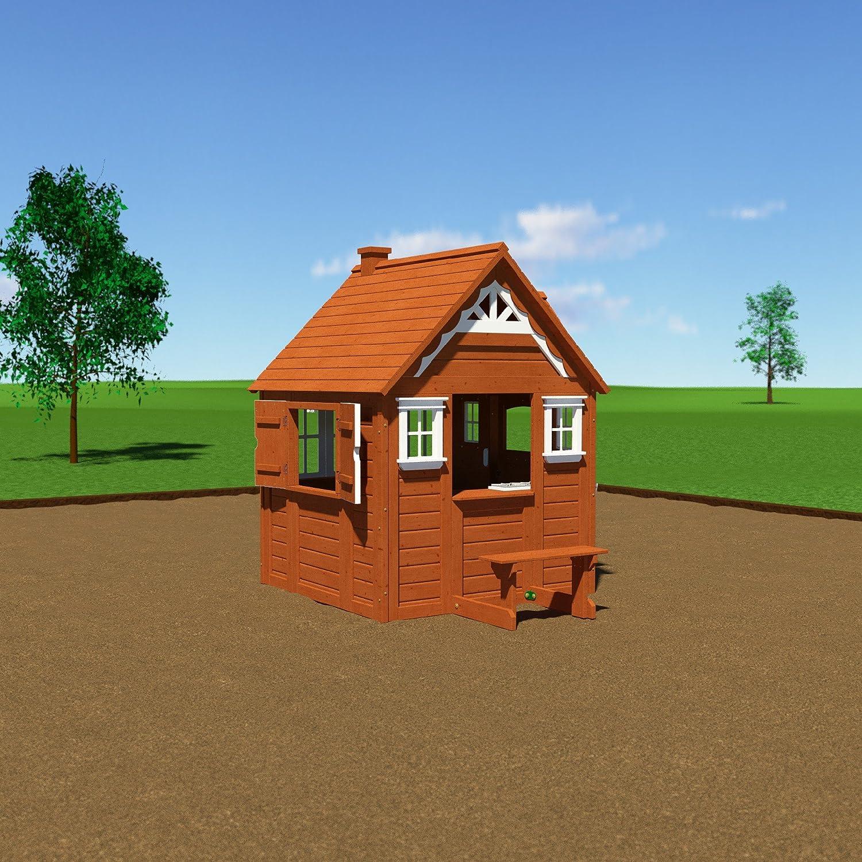amazon com backyard discovery my cedar playhouse all cedar wood