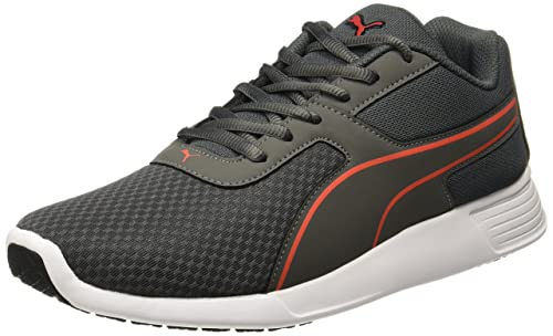 Puma Men s KOR Idp Dark Shadow-Quiet Shade-Cherry Tomato Sneakers - 6 UK 5fdb6bc3c