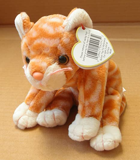 Amazon.com  TY Beanie Babies Amber the Cat Stuffed Animal Plush Toy - 6  inches long  Everything Else 5f0585343452